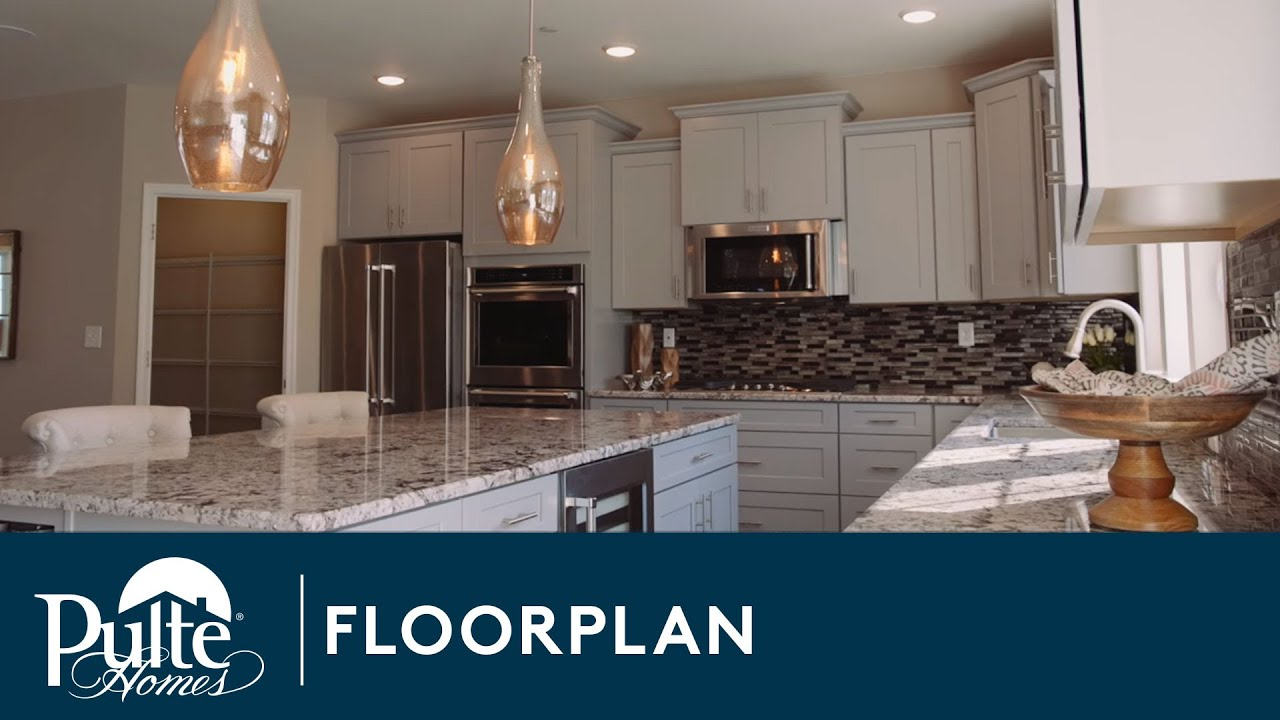 new homes by pulte homes u2013 carlton floor plan youtube