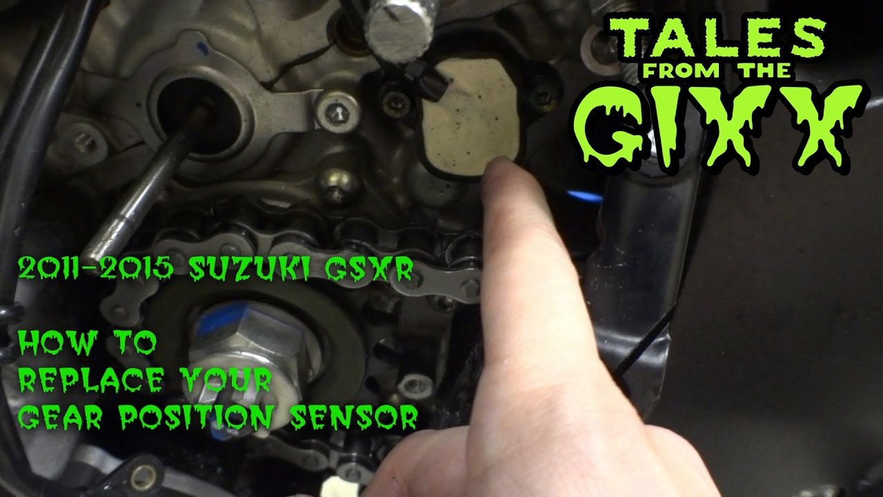 2011-2015 Suzuki GSXR 600 GPS (Gear Position Sensor) Replacement