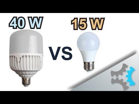 Super Quick LED Bulb Comparison - 40W Vs 15W