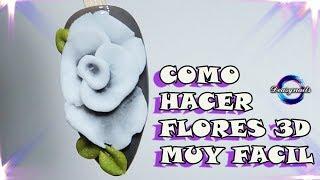 HAZ FLORES 3D DE ACRILICO MUY FACIL - tutorial flores 3d acrilic Deasynails