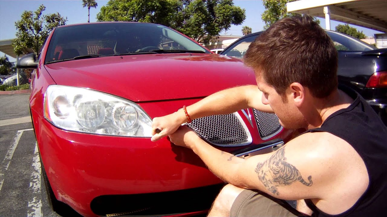 How to remove front bumper grill from pontiac g6 for painting or repair youtube