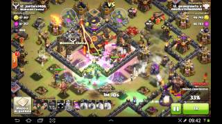 CLASH OF CLANS - 3 STELLE CON TH10 FULL WITCHES