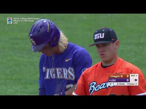 2017 NCAA CWS Baseball Oregon State vs. LSU Game 3