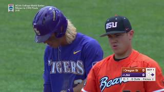 2017 NCAA CWS Baseball Oregon State vs. LSU Game 3