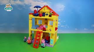 Joc de construit Peppa Pig familie în casă PlayBIG