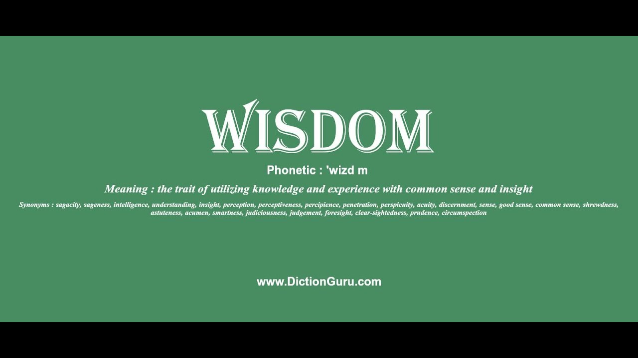 Wisdom How To Pronounce Wisdom With Phonetic And Examples Youtube
