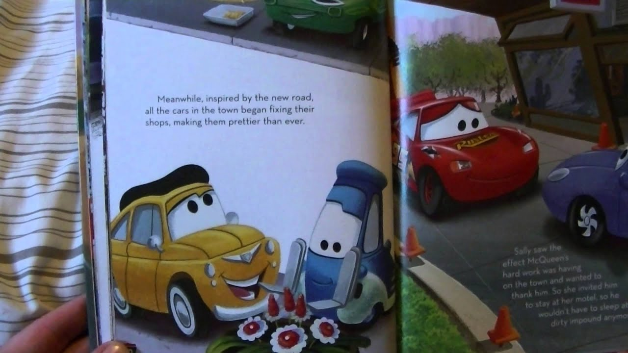 disney cars bed time book read with me
