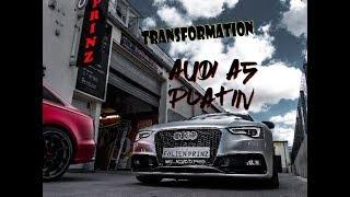 Folien Prinz - BAM BAM ! Der Audi wird PLATIN foliert +  Mustang Carporn