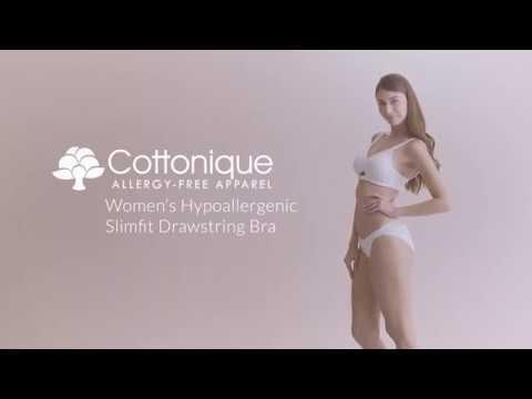 1aae009221 Cottonique Women s Slimfit Drawstring Bra - YouTube