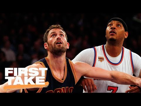 Stephen A. Says Cavaliers Should Trade Kevin Love For Carmelo Anthony | First Take | June 14, 2017