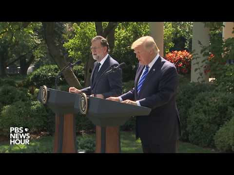 WATCH: President Trump, Spanish prime minister hold news bri