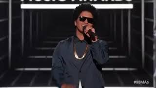 Bruno Mars presenting icono award to Janet Jackson on The Billboard...