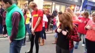 check yourself don t wreck yourself flash mob dance barnstaple