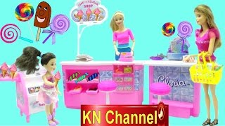 Đồ chơi trẻ em SIÊU THỊ BÁNH & KEM BÚP BÊ BARBIE SUPERMARKET CANDY & ICE CREAM SHOP FOR DOLL