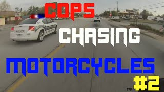 Motorcycle Police Chases Compilation #2 (15 minutes of police chases!)