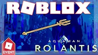 [EVENT ENDED!] How to get the Aquaman's Trident! | Roblox Aquaman: Home is Calling