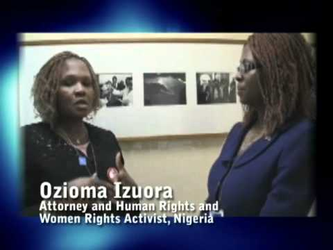 Bookie Shonuga with Ozioma Izuora, Attorney and Human Rights and Women Rights Activist, Nigeria  Produced by Global Media Productions and African Views