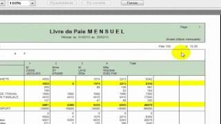 Sage Paie: Edition des états de paie et clôture mensuelle
