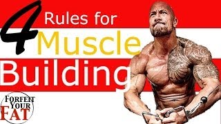 4 Rules to quickly build muscle and get toned