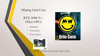 Mining Grin Coin - Hashrates and Overclocks