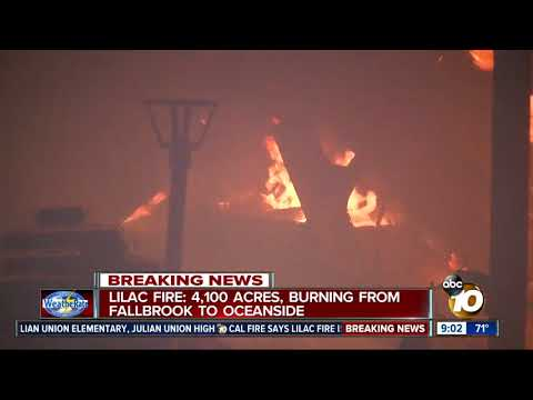 Firefighters continue to fight Lilac Fire