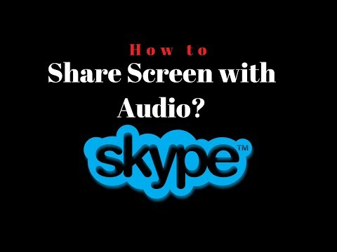How To Share Audio On Skype | How To Share Screen Sound On Skype |