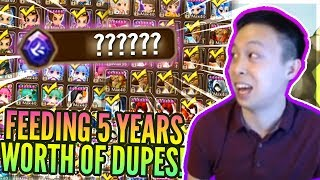 I Fed ALL My DUPES! INFINITE Ancient Crystals! - Rune / Grind / Gem Refreshes! - Summoners War