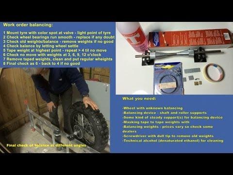 How to balance a motorbike wheel statically - YouTube