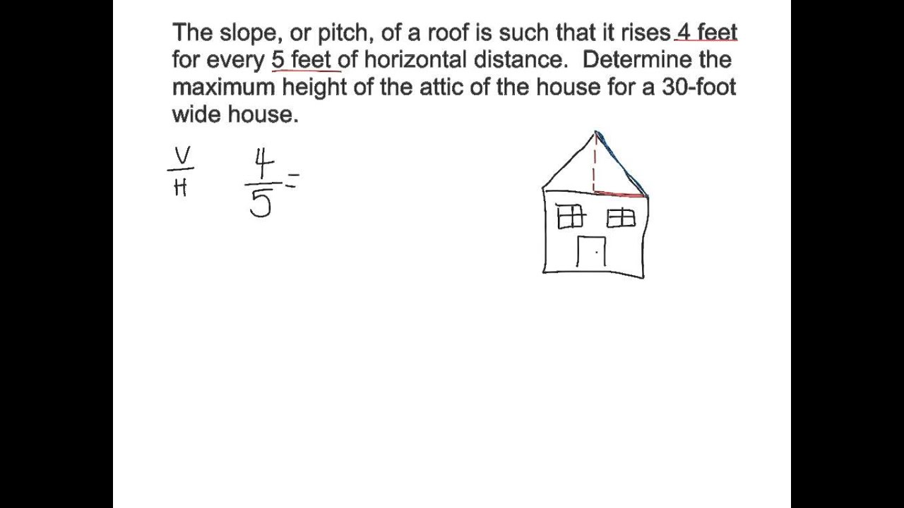 3.3 Roof Pitch Word Problems