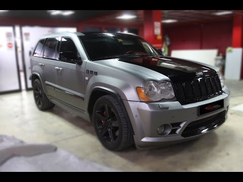 2015 Jeep Grand Cherokee >> CAR WRAP DUBAI - JEEP SRT WRAPPED WITH CHARCOAL METTALLIC MATT - YouTube