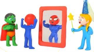 SUPERHERO BABY BECOMES A MUSCULAR MAN ❤ SUPERHERO PLAY DOH CARTOONS FOR KIDS