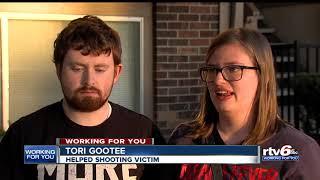 Indy couple helps shooting victim