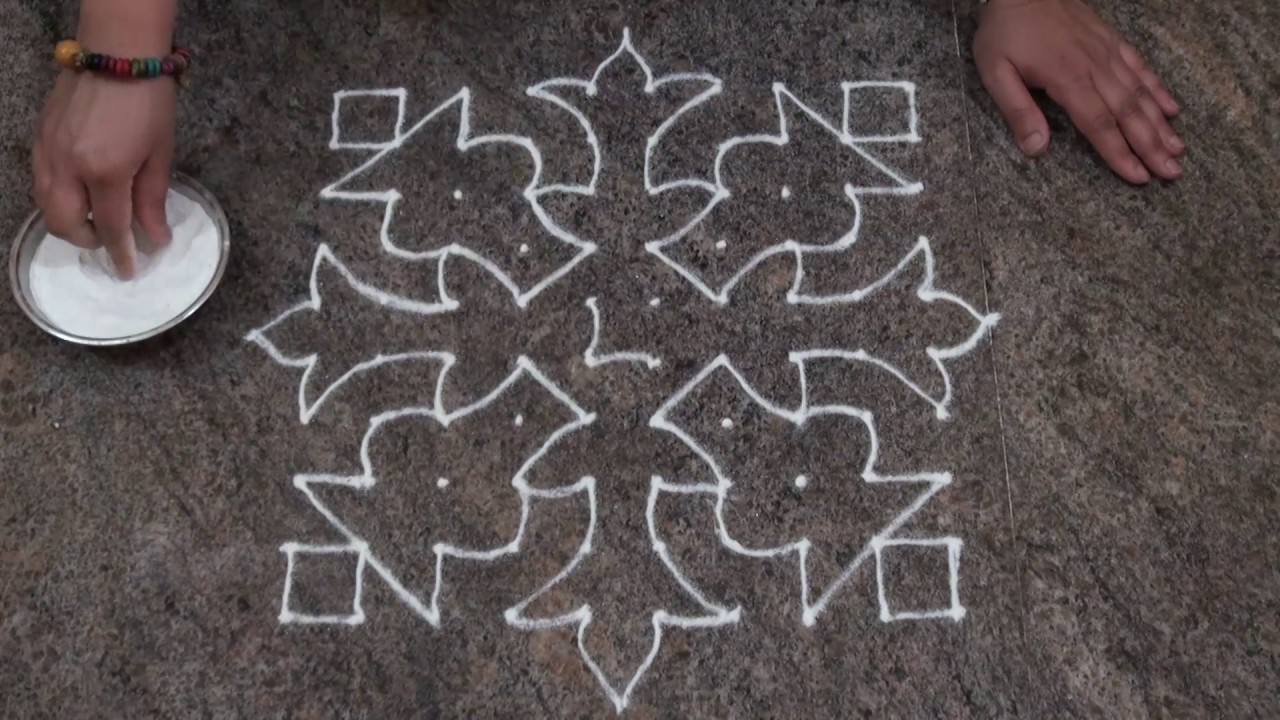 Easy And Simple Rangoli Design/ Simple Dot Rangoli Design