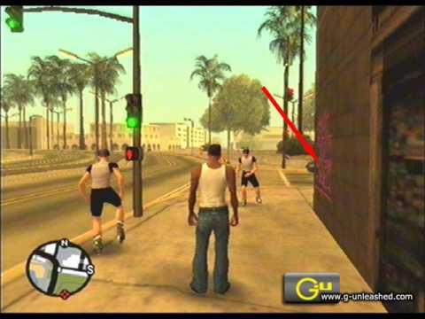 100 Grafitis (Tags en inglés) de GTA San Andreas PARTE 2 - YouTube