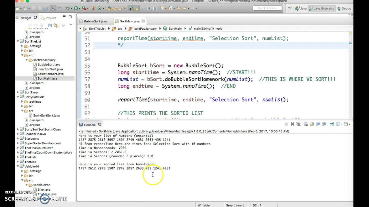 Java Bubble Sort 2 Testing Bubbling for one pass in Array