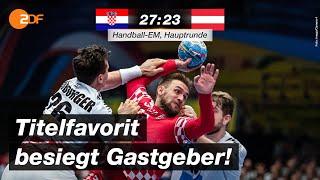 Kroatien - Österreich 27:23 - Highlights | Handball-EM 2020 - ZDF