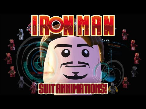 LEGO Marvels Avengers All Iron Man Suit Up Animations House Party Protocol Achievement