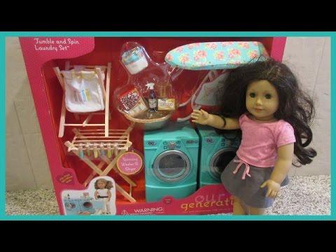 Our Generation Spin Amp Tumble Laundry Set Youtube