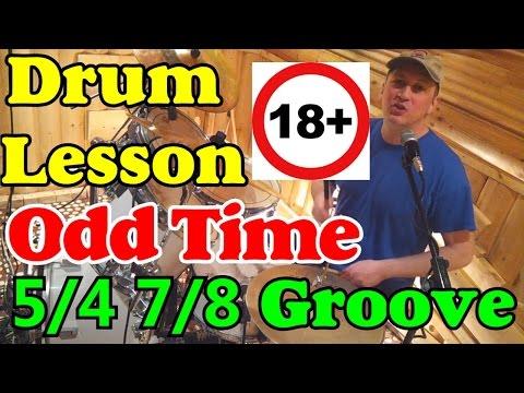 Нечётные размеры на барабанах (5/4, 7/8) Обучающий урок - Джаз Рок Фанк - Odd Time Beats Drum lesson