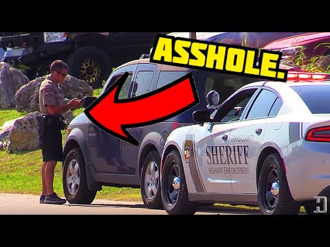 This cop is an asshole