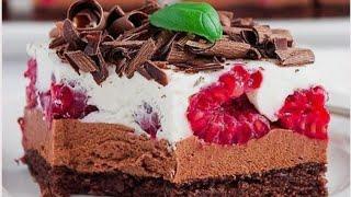 Торт Мороженое с шоколадом и ягодами