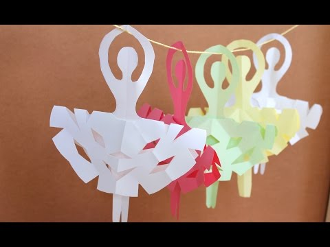 Easy paper craft: How to make snowflake ballerinas