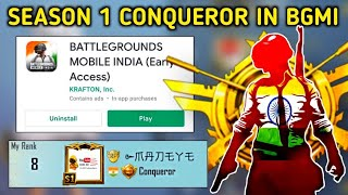 😍 SEASON 1 CONQUEROR IN BGMI | ARE YOU GUYS READY | BATTLEGROUND MOBILE INDIA IS HERE | MADEYE