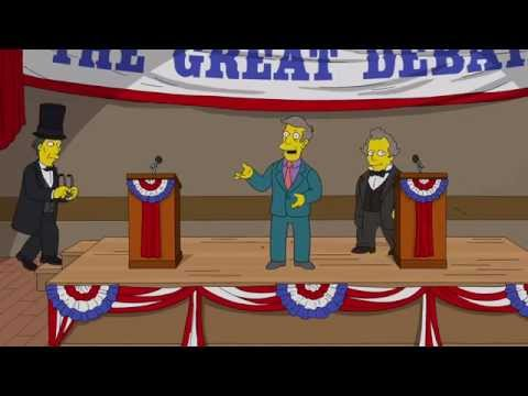 The Great Lincoln Douglas Debate Riot from You Don't Have To Live Like A Referee   THE SIMPSONS