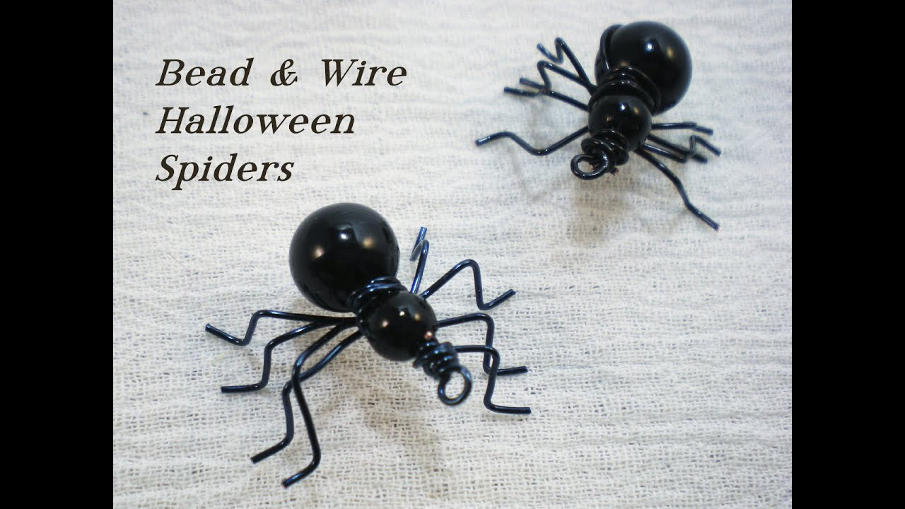 Beaded Halloween Spider Video Tutorial - YouTube