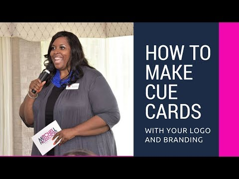 How To Make Cue Cards With Your Logo