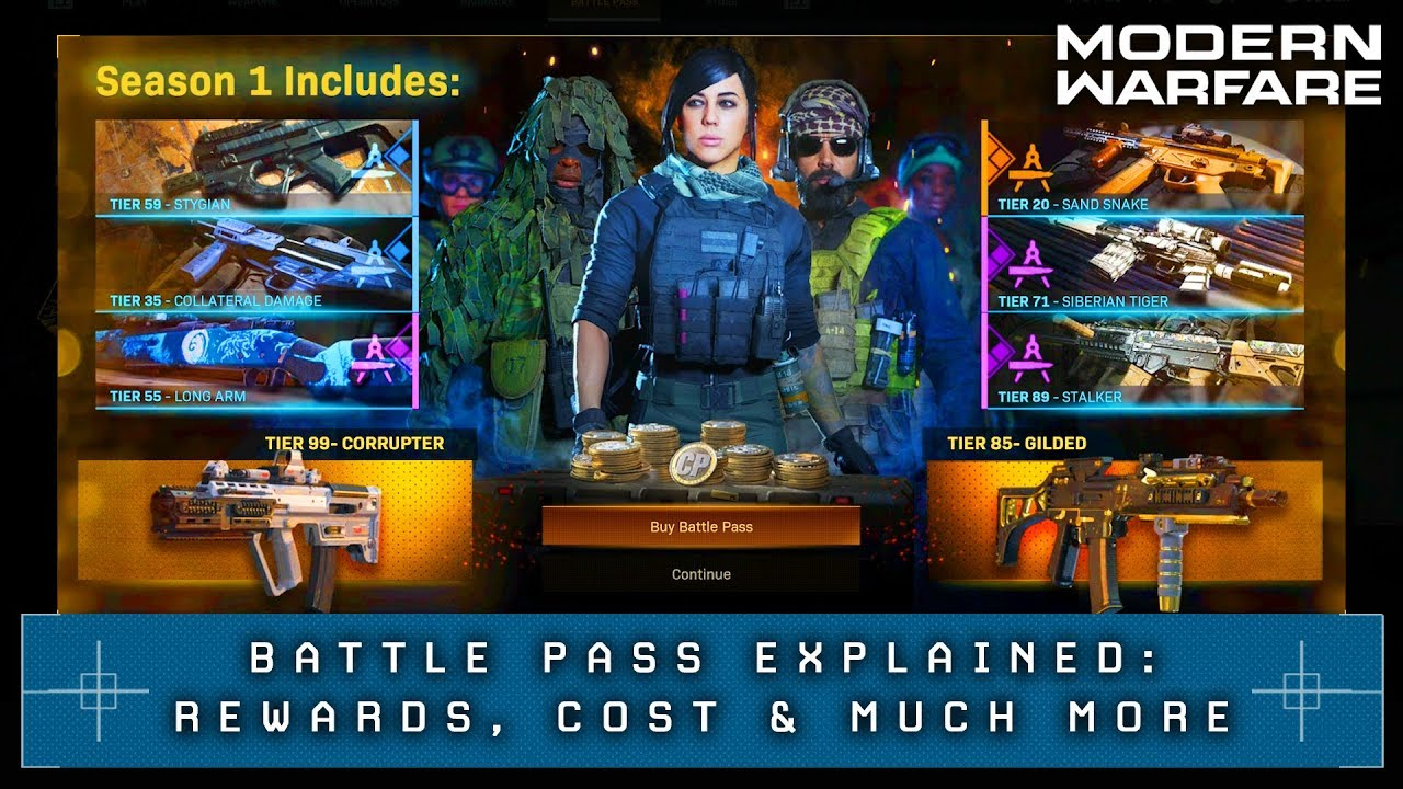 Call Of Duty Modern Warfare Battle Pass Price How To Unlock 100 Tiers For Season 1