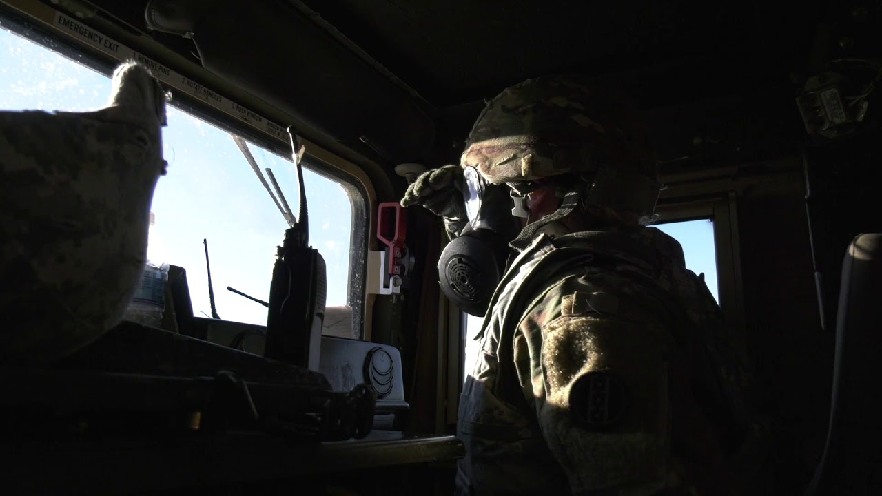 A Cold Steel Gun Truck crew reacts to contact under the duress of a simulated gas attack. U.S. Army Reserve Soldiers are conducting mounted crew-served weapons training and qualification for Operation Cold Steel III at Joint Base McGuire-Dix-Lakehurst. Follow along on Instagram @usarmyreserve for a behind-the-scenes look!