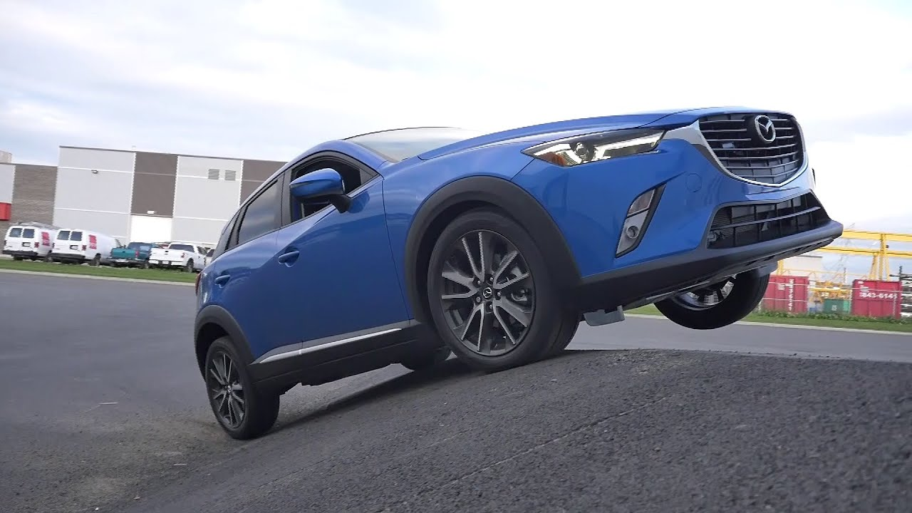 mazda cx-3 2016 awd diagonal test - youtube