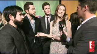 """Chuck"" Cast @ NBC 2011 Upfronts - Interview by E! Online"